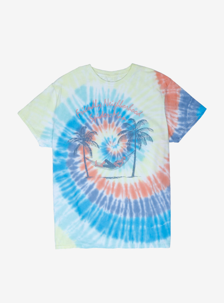 Marvel Spider-Man Tropical Tie-Dye T-Shirt - BoxLunch Exclusive