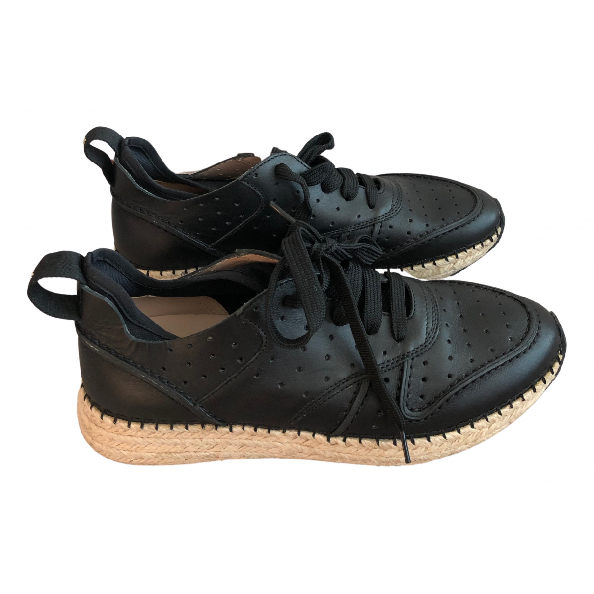 Tod's - Baskets   pour femme en cuir - noir