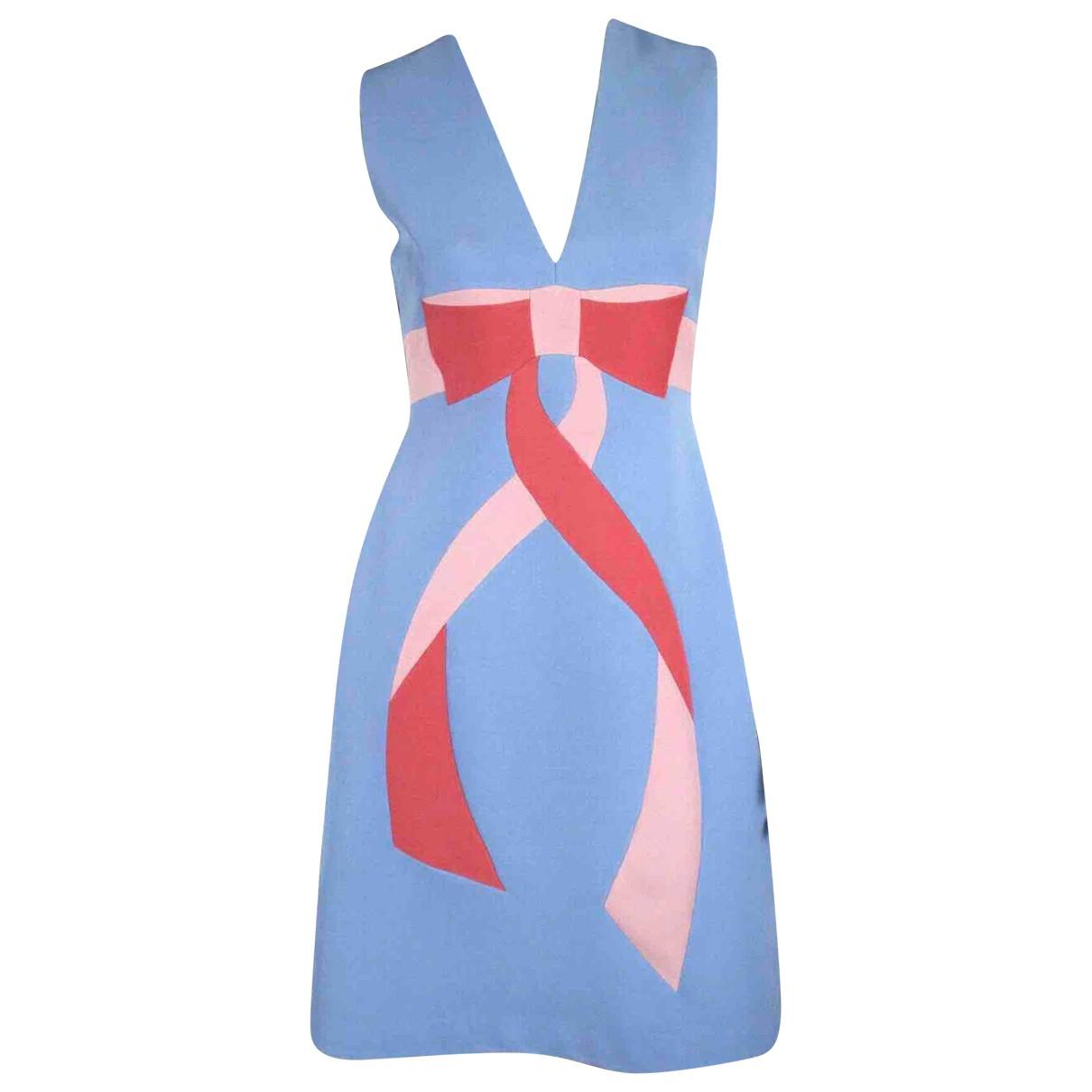 Gucci N Blue Wool dress for Women 40 IT