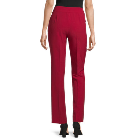 Black Label by Evan-Picone Classic Fit Suit Pants, 12 , Red