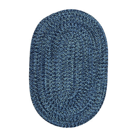 Colonial Mills Kelly Braided Oval Reversible Indoor/Outdoor Rugs, One Size , Blue