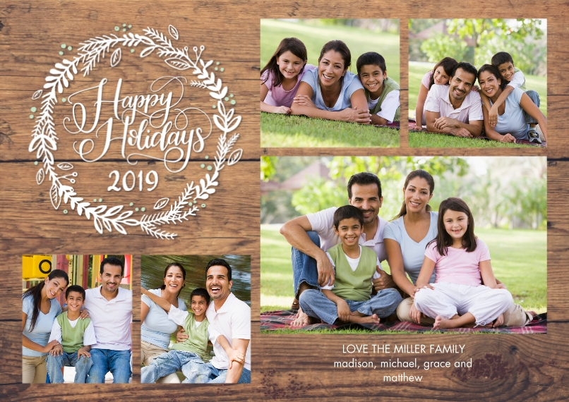 Holiday Photo Cards 5x7 Cards, Premium Cardstock 120lb with Rounded Corners, Card & Stationery -2019 Holiday Rustic by Tumbalina