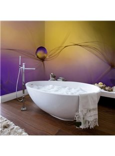 Fancy Design Dandelions Pattern Waterproof Decorative 3D Bathroom Wall Murals