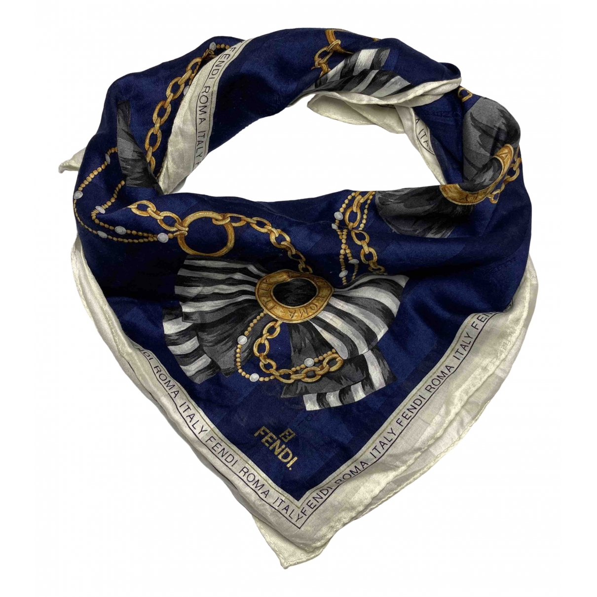 Fendi \N Schal in  Blau Baumwolle