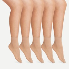 Calcetines tobilleros de malla transparentes 5 pares