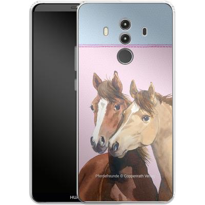 Huawei Mate 10 Pro Silikon Handyhuelle - Pferdefreunde Rosa von Pferdefreunde