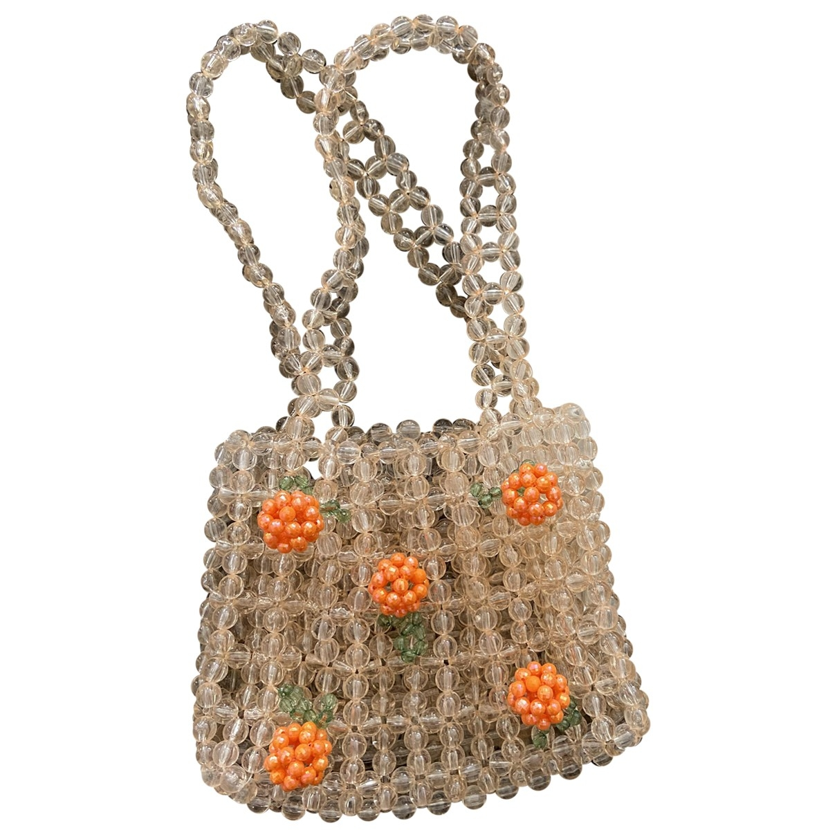 Non Signe / Unsigned \N Handtasche in  Orange Kunststoff