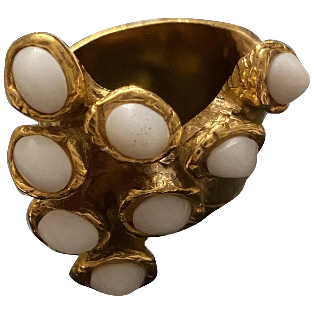 Yves Saint Laurent Arty White Metal ring for Women 53 EU