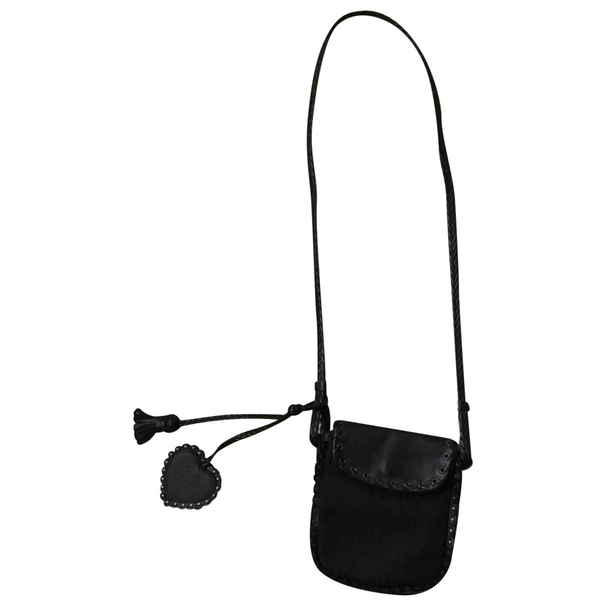 Dior \N Black Leather handbag for Women \N