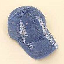 Kids Ripped Decor Baseball Cap