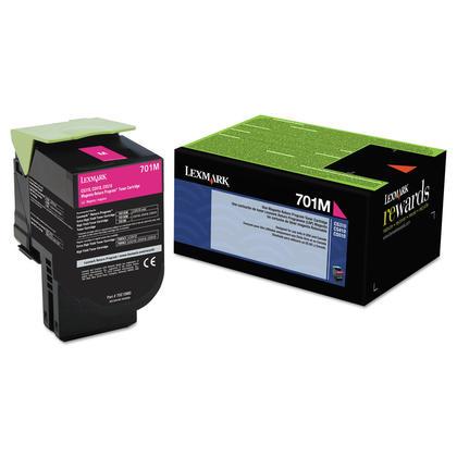 Lexmark 701M 70C10M0 Original Magenta Return Program Toner Cartridge