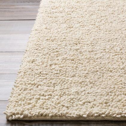 Aros Collection AROS2-8RD Round 8' Area Rug  Hand Woven with Wool Material in Cream