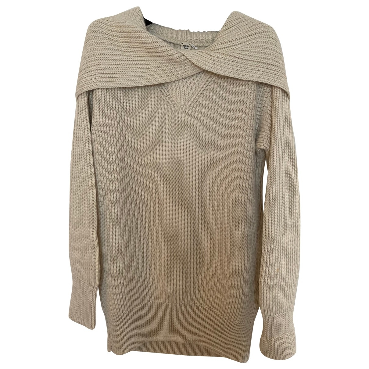 Hermès \N Beige Cashmere Knitwear for Women 34 FR