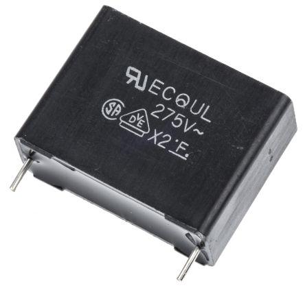 Panasonic 680nF Polyester Capacitor PET 275V ac ±10% (5)
