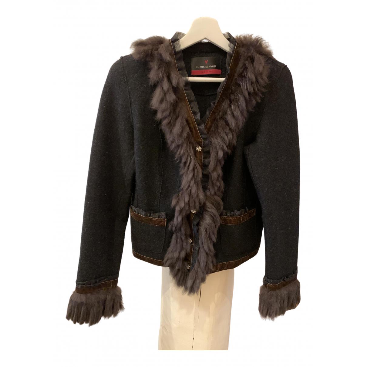 - Pull   pour femme en laine - anthracite