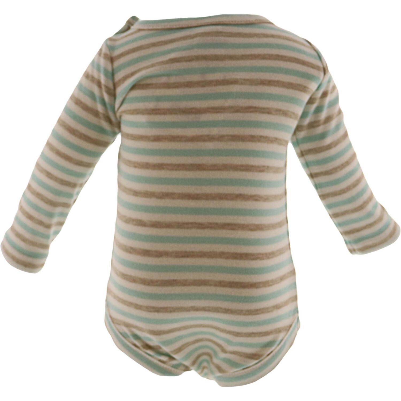 Janie And Jack Blue / White Beige Striped Bodysuit - NB