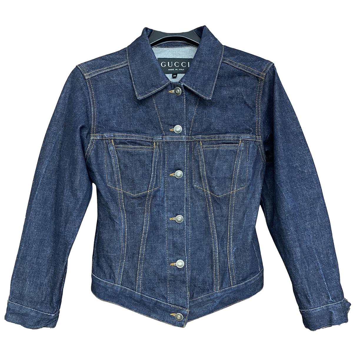 Gucci - Veste   pour femme en denim - bleu