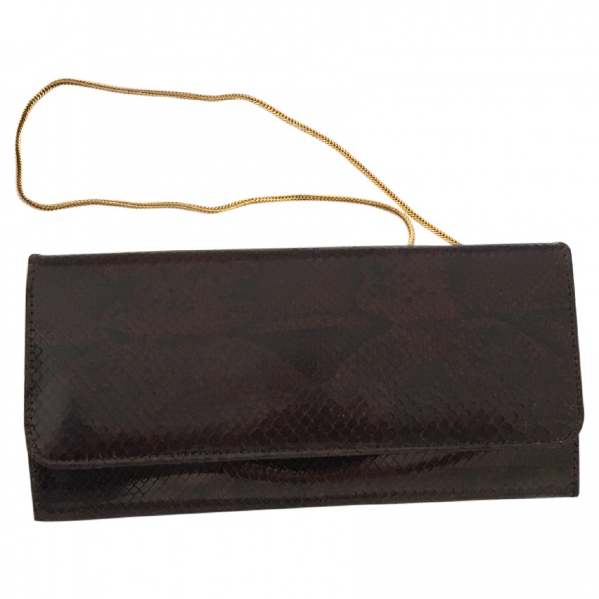 Non Signé / Unsigned \N Burgundy Leather Clutch bag for Women \N