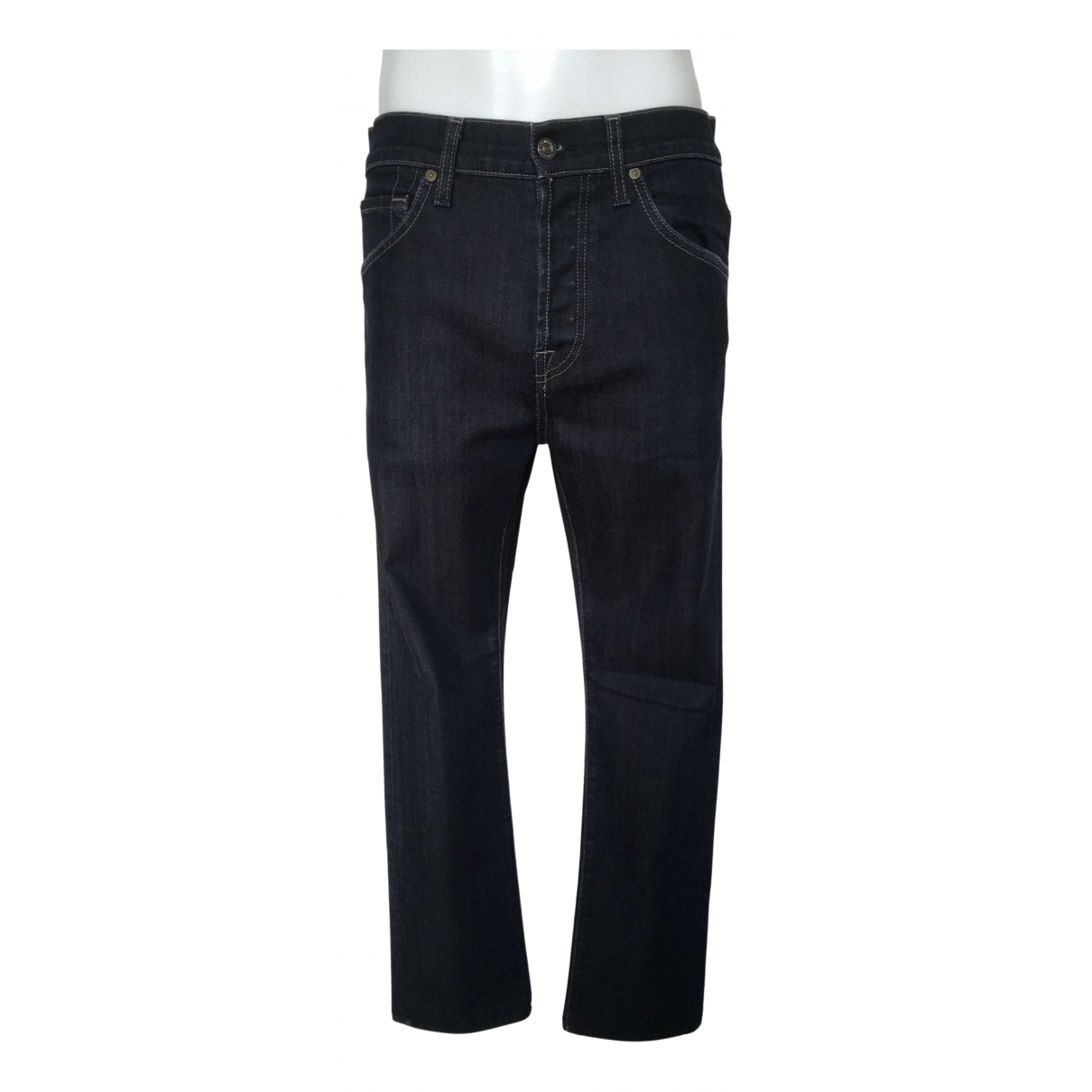7 For All Mankind N Blue Cotton - elasthane Jeans for Men 29 US