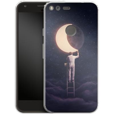 Google Pixel Silikon Handyhuelle - Carpe Noctem Wide von Enkel Dika