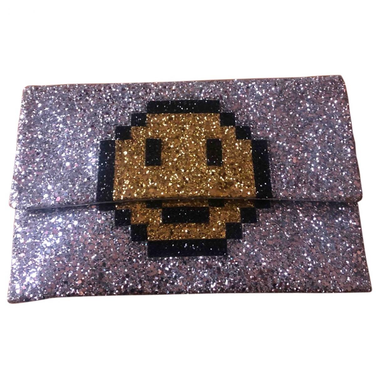 Anya Hindmarch \N Silver Glitter Clutch bag for Women \N