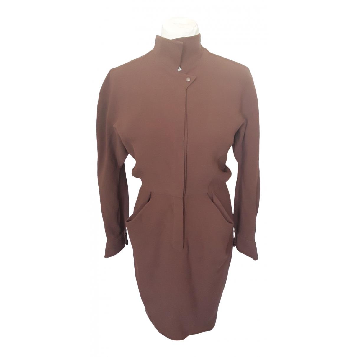 Thierry Mugler \N Brown Wool dress for Women 38 FR