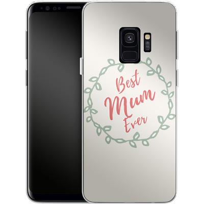 Samsung Galaxy S9 Silikon Handyhuelle - Best Mum Ever von caseable Designs