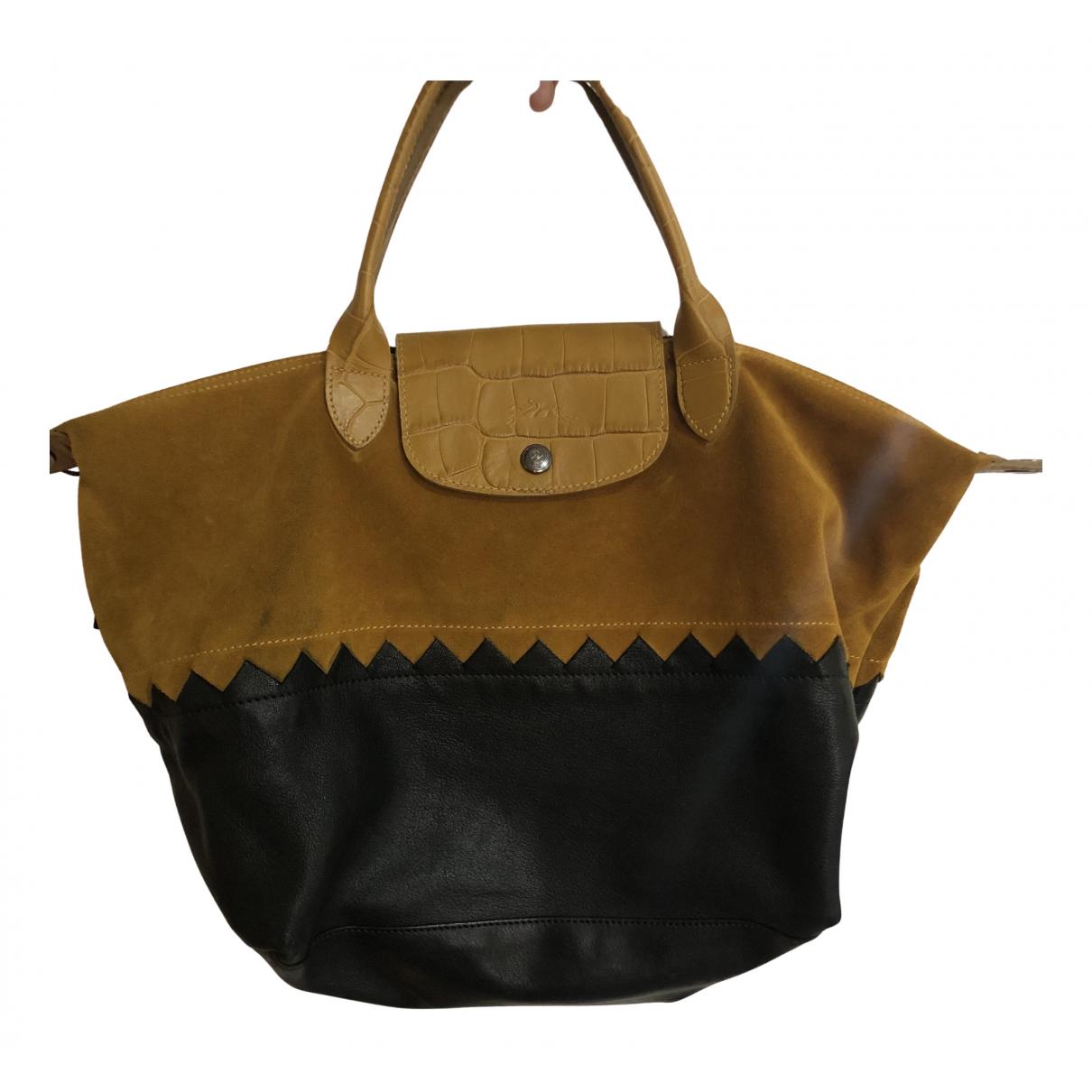 Longchamp Pliage  Black Leather handbag for Women N