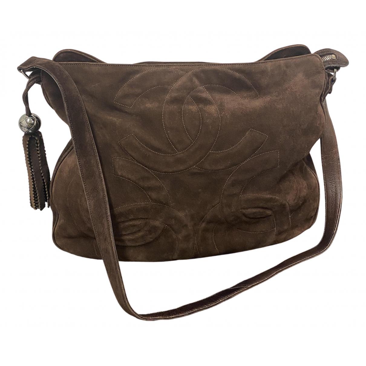 Chanel \N Handtasche in  Braun Veloursleder