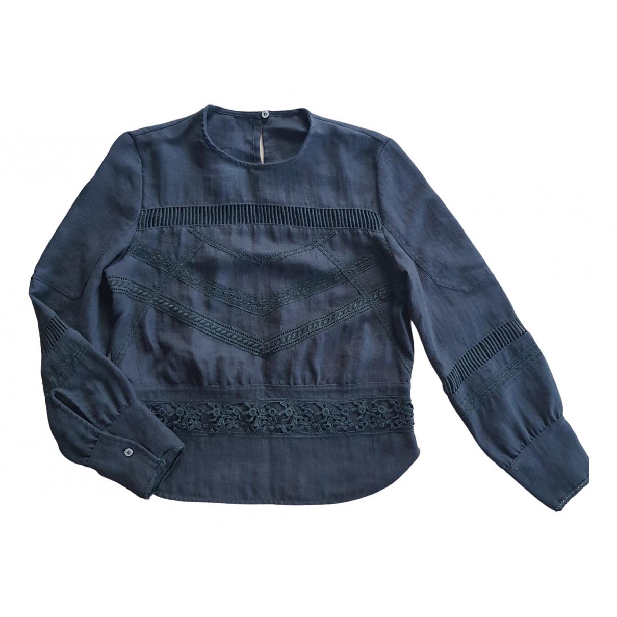 Iro - Top   pour femme en coton - noir