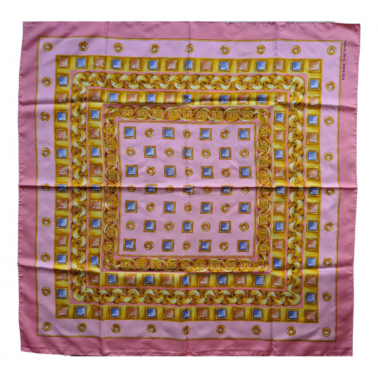 Pierre Balmain - Carre   pour femme en soie - rose