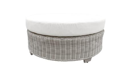TKC038b-CTRND-WHITE Round Coffee Table - Beige and White