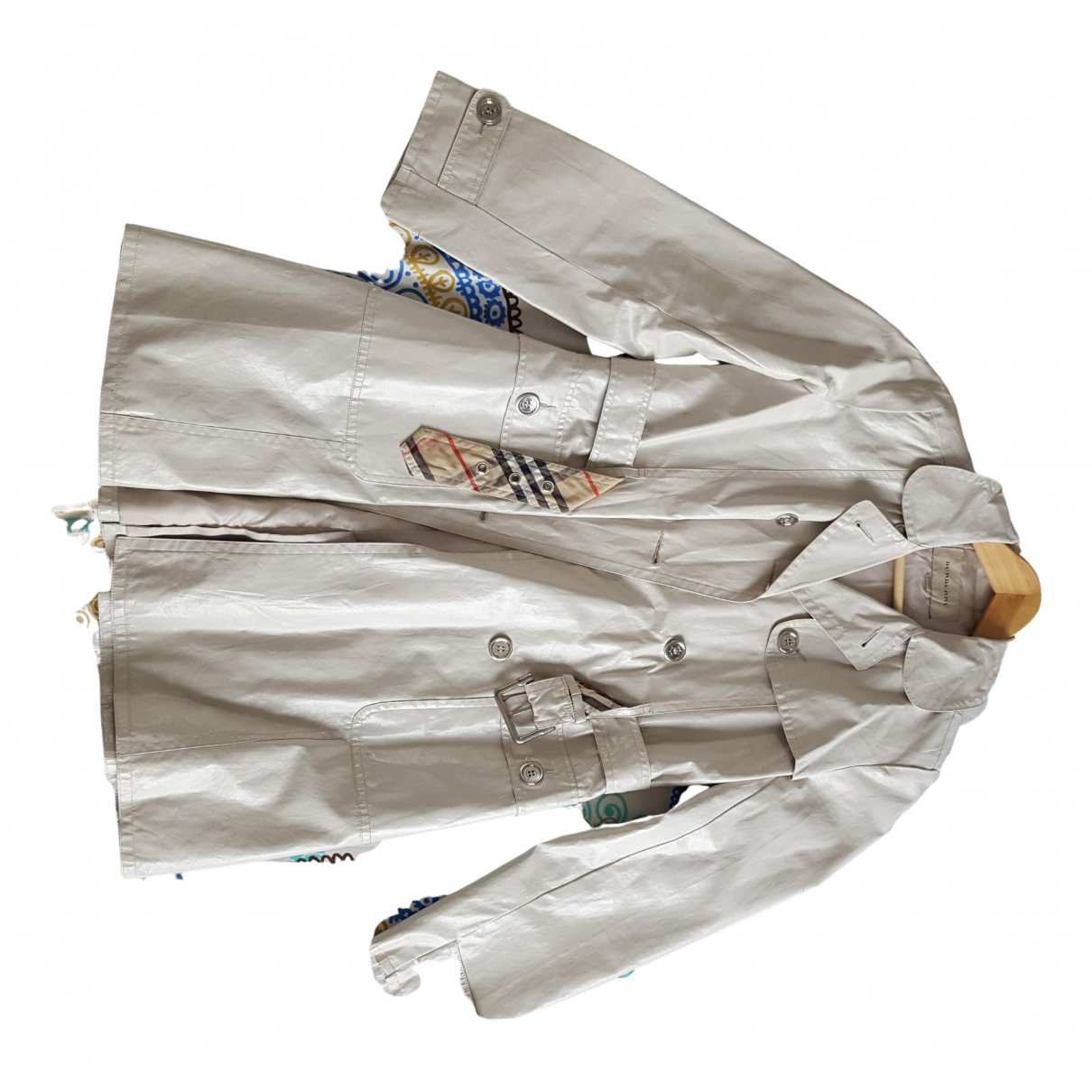 Burberry - Blousons.Manteaux   pour enfant en coton - blanc
