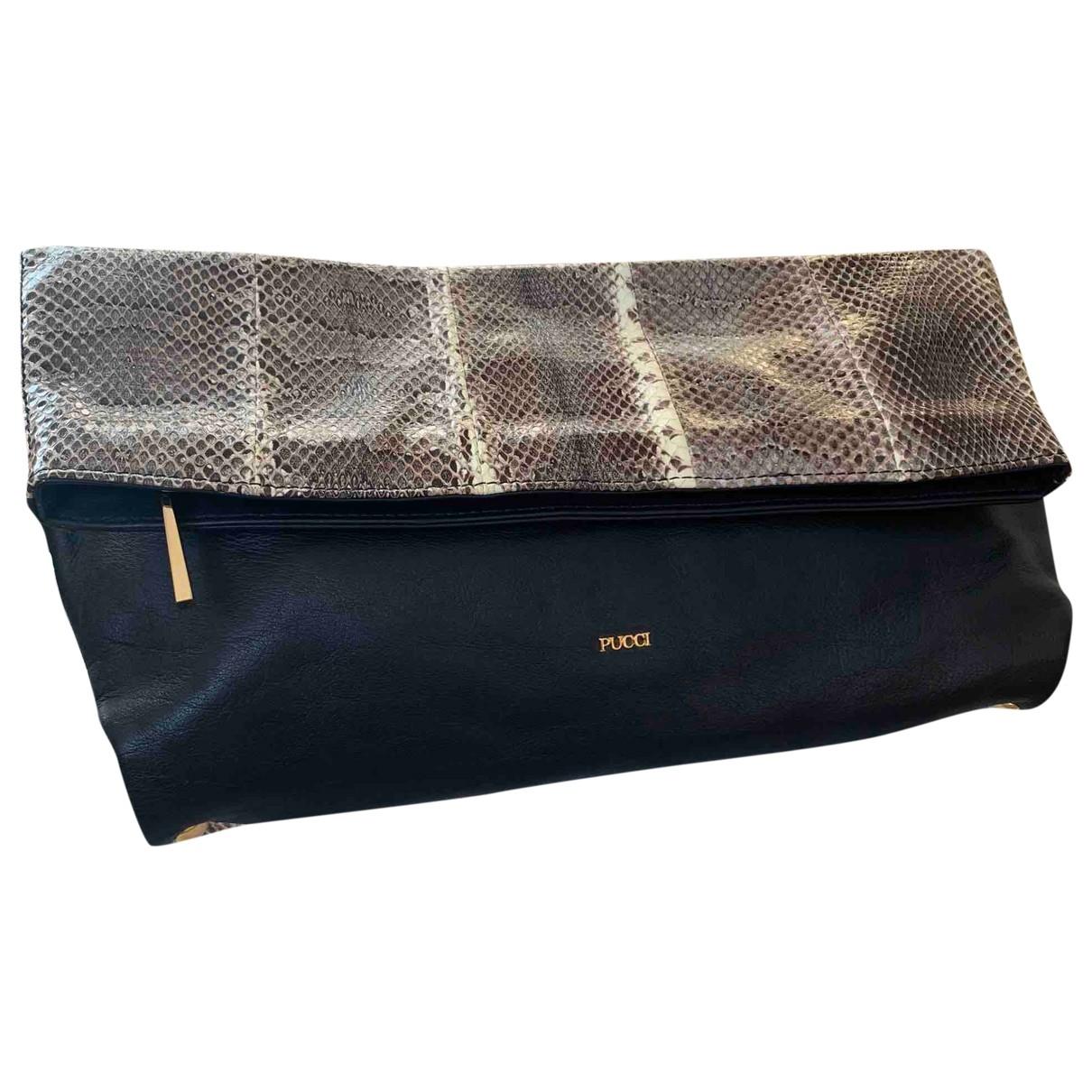 Emilio Pucci \N Black Water snake Clutch bag for Women \N