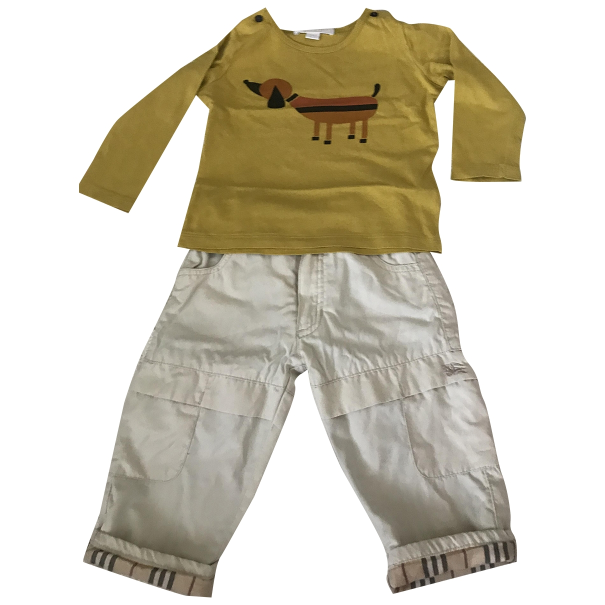 Burberry - Les ensembles   pour enfant en coton - beige