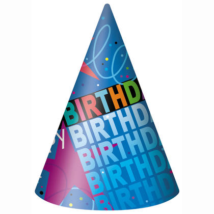 Cosmic Birthday Party Hats, 8ct For Birthday Party