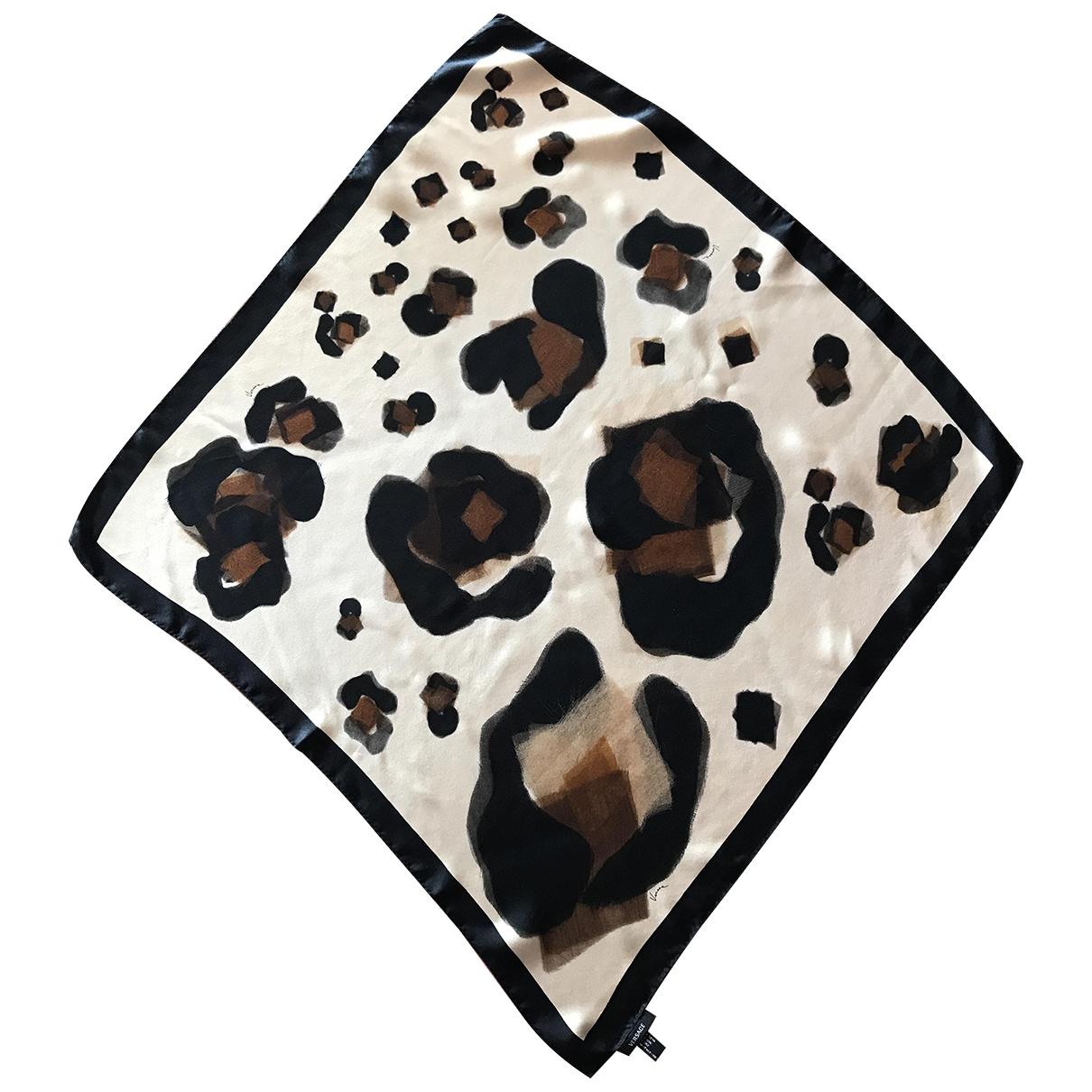 Versace \N Brown Silk scarf for Women \N