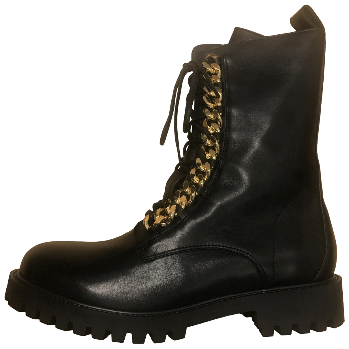 Moschino For H&m \N Black Leather Boots for Men 41 EU