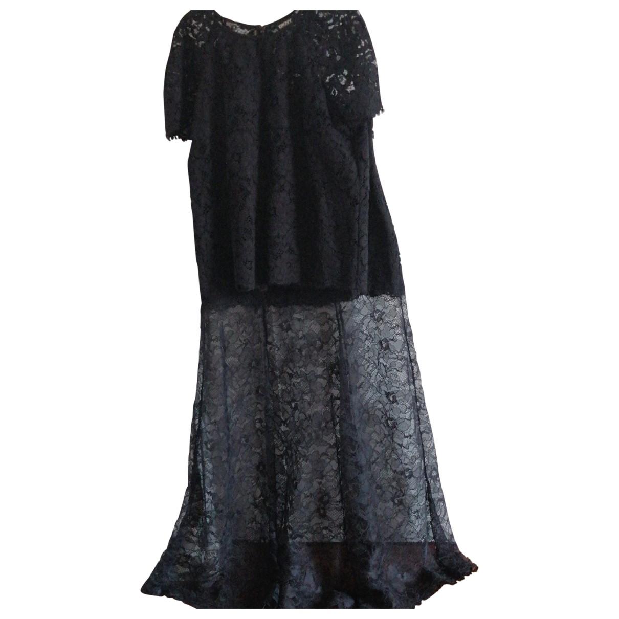 Donna Karan \N Black Cotton dress for Women 6 US
