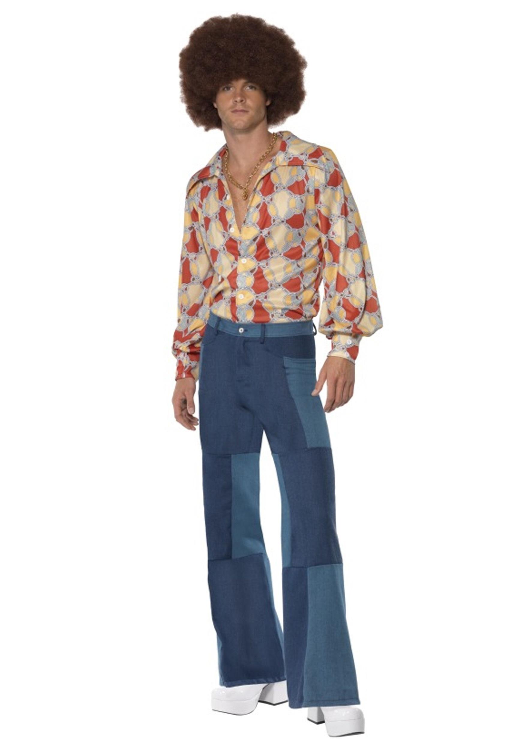 Patchwork Pants Men's Costume