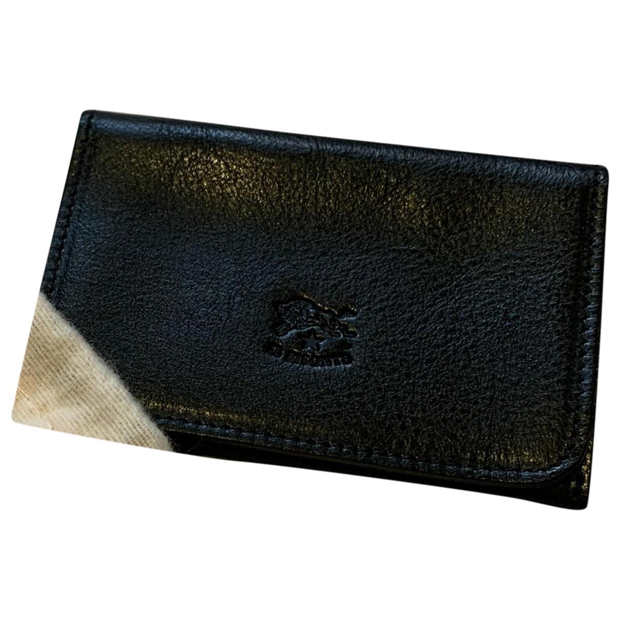 Il Bisonte - Petite maroquinerie   pour homme en cuir - noir