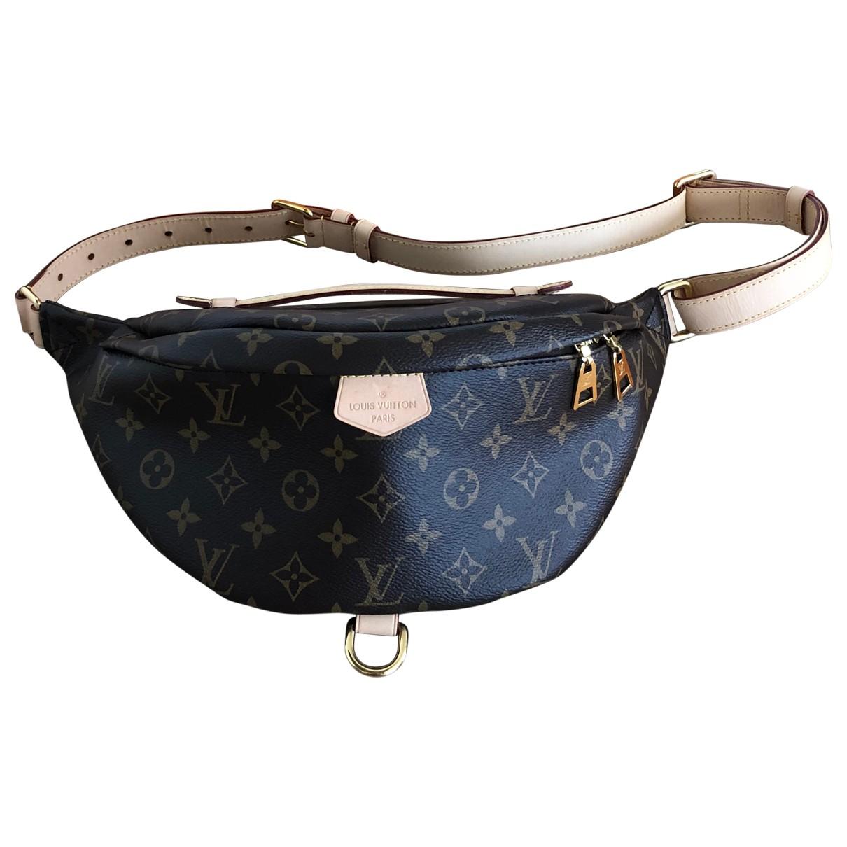 Louis Vuitton Bum Bag / Sac Ceinture Brown Cloth Clutch bag for Women \N