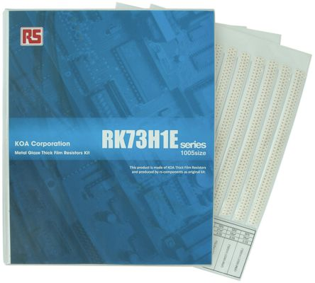 KOA , RK73H1E Thick Film, SMT 170 Resistor Kit, with 34000 pieces, 1 Ω to 10 MΩ