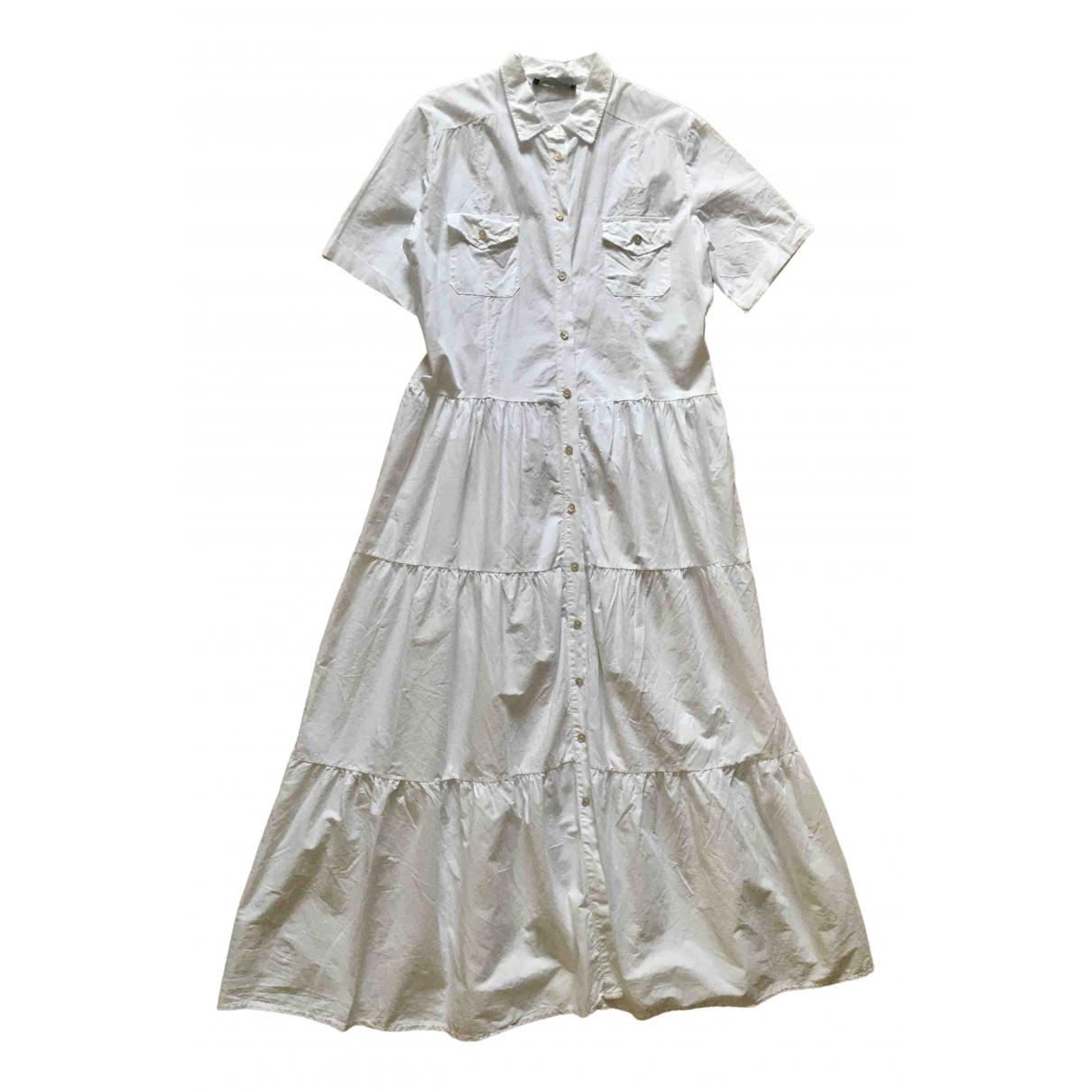 Non Signe / Unsigned Oversize Kleid in  Weiss Baumwolle