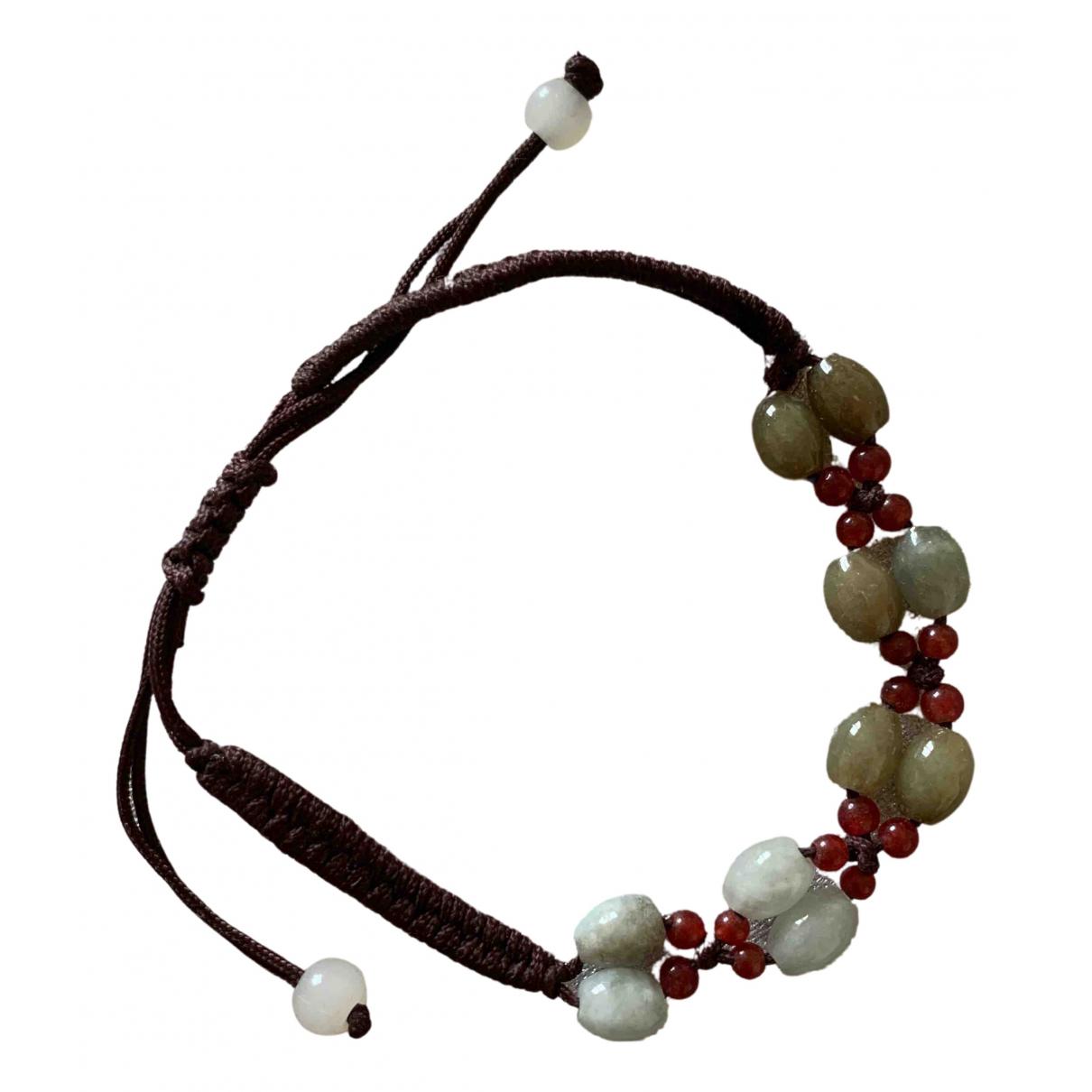 - Bracelet   pour femme en verre - marron