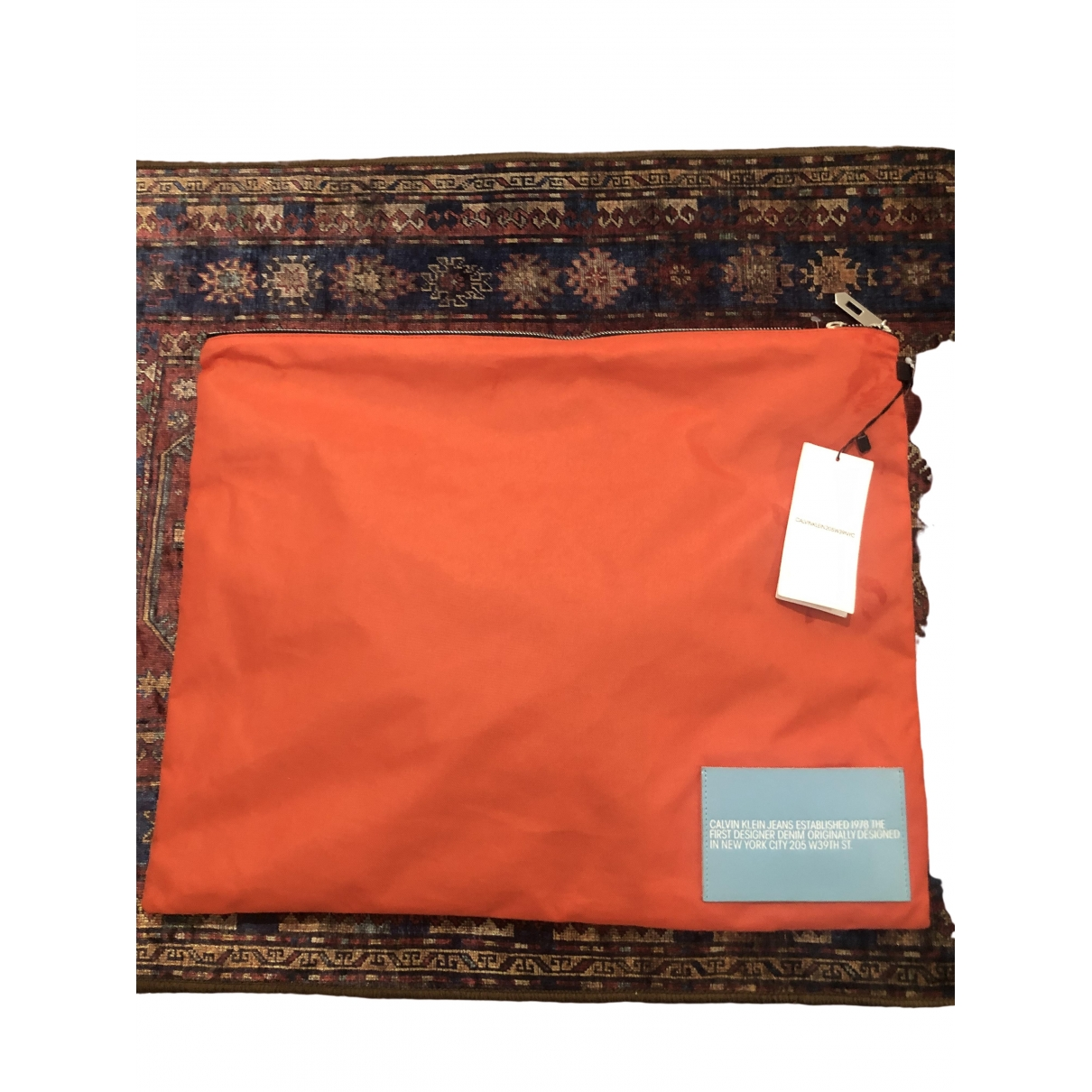 Calvin Klein 205w39nyc \N Clutch in  Orange Polyester