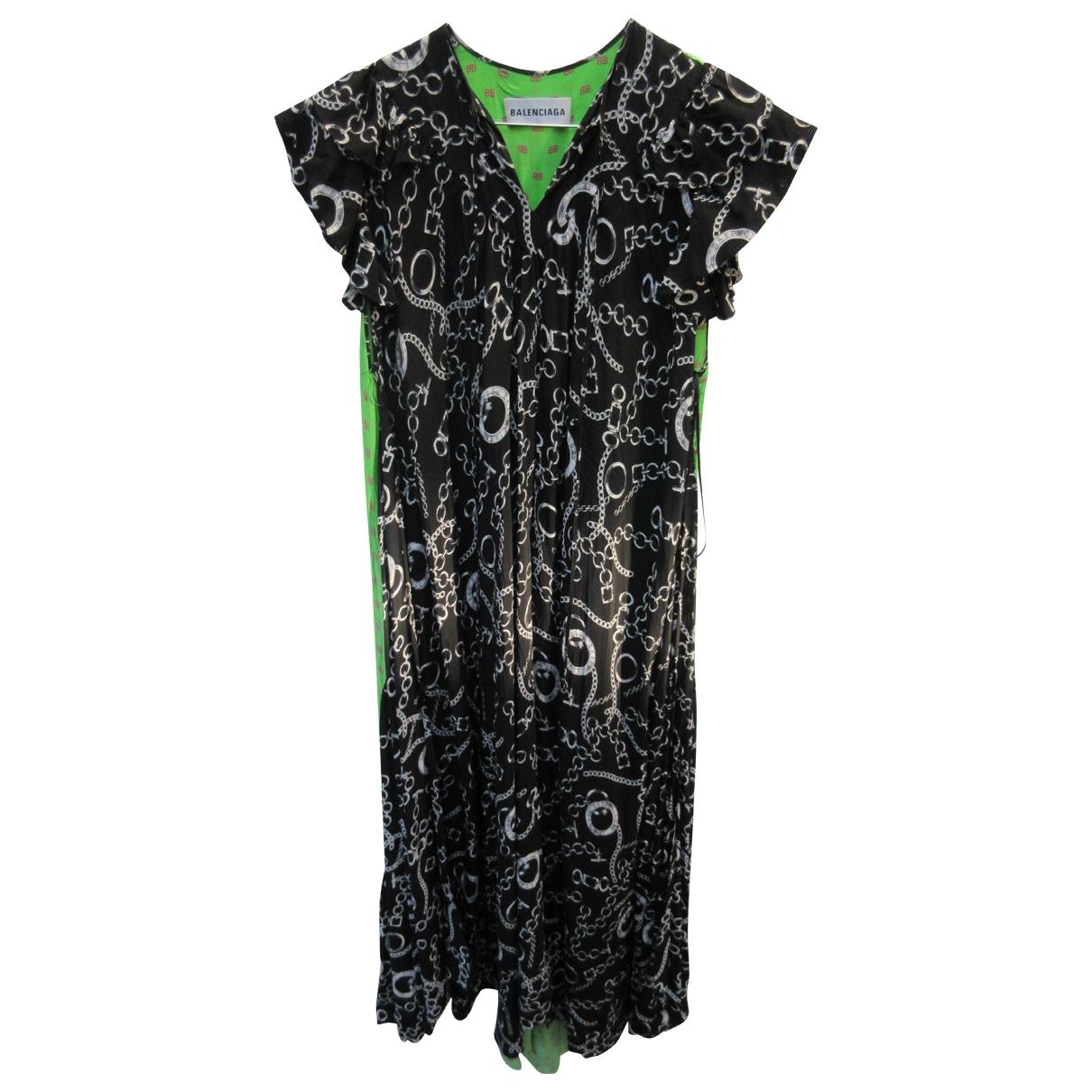 Balenciaga \N Green Silk dress for Women 38 FR