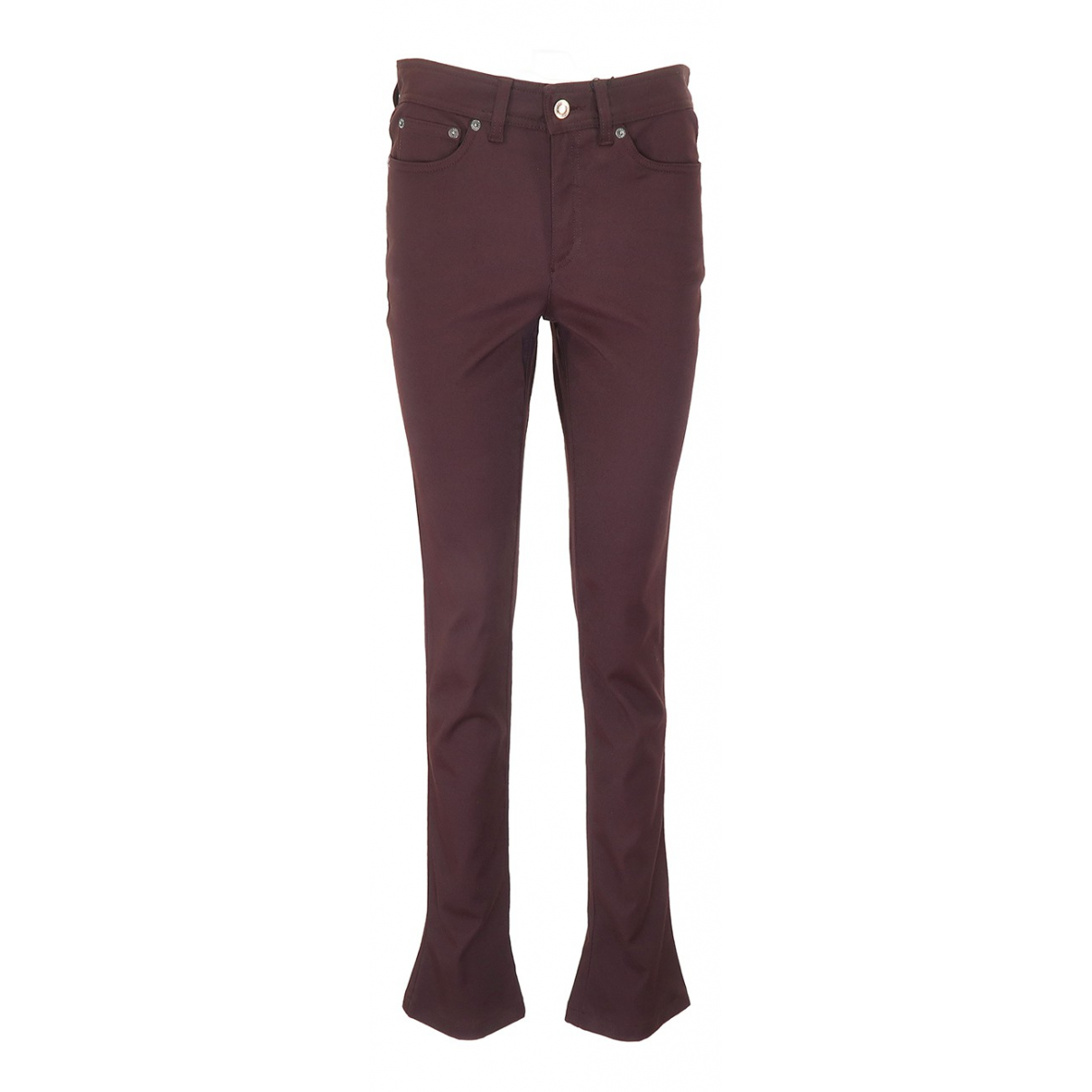 Gucci N Burgundy Cotton Trousers for Women 42 IT