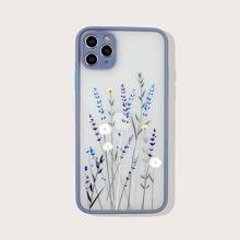 1 Stueck iPhone Schutzhuelle mit Pflanzen Muster