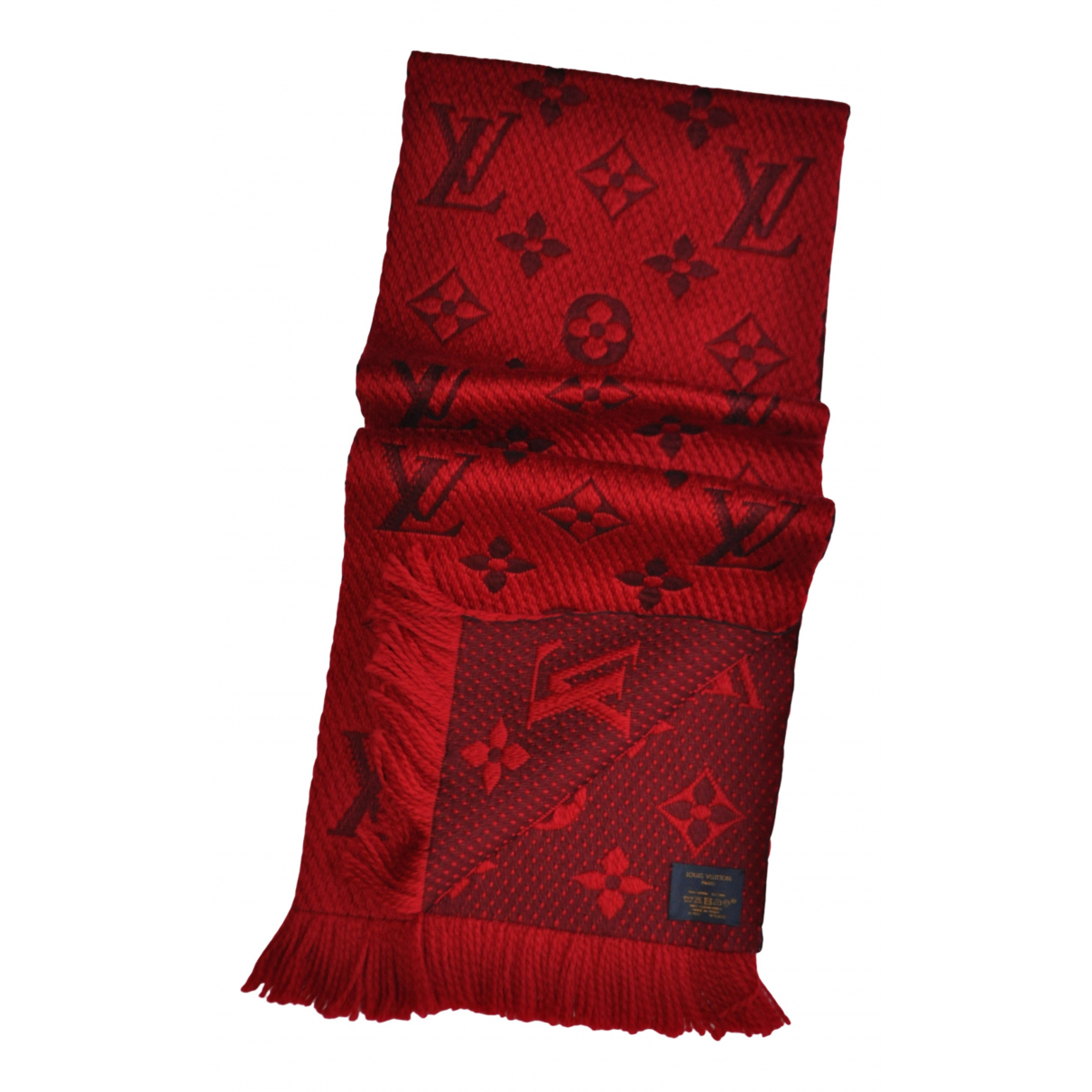 Louis Vuitton Logomania Red Wool scarf for Women N